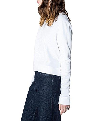 Cheap Monday Women's Exact Skull Women's White Sweatshirt 100% Cotton White