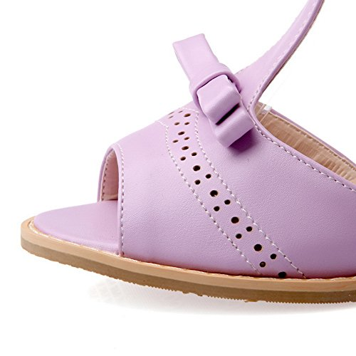 BalaMasa Womens Travel Cold Lining Solid Urethane Sandals ASL05222 Purple exQePtXWPz