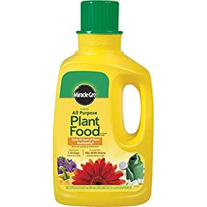 Miracle-Gro 1001502 All Purpose Liquid Plant Food Concentrate, 32-Ounce (Plant Fertilizer)