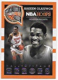 Hakeem Olajuwon 2013-14 Hoops Hall of Fame Heroes Houston Rockets Insert Card #5 ()
