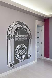 Walliv Juke Box Monochrome Wall Decals, Black [wa0271]