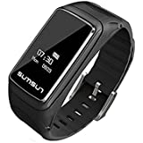 Bluetooth Smart Watch, 2 in 1 Talkband Smart Bracelet Wireless Activity Tracking Wristband For Android/IOS Smartphones (Black)
