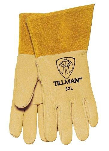 Grain Pigskin (Tillman 32L Top Grain Pigskin MIG Welding Gloves - LARGE by Tillman)