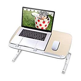 AboveTEK Laptop Desk for Bed, Portable Table Tray with Foldable Legs, Height Adjustable Notebook Computer Stand for…