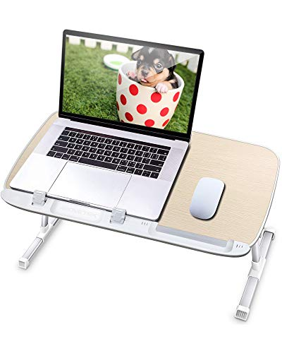 AboveTEK Laptop Desk for Bed, Portable Laptop Table Tray with Foldable Legs, Height Adjustable Foldable Laptop Desk for…