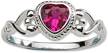 Precious Pieces - Ring mit Geburtsstein aus Zirkonia und Sterlingsilber