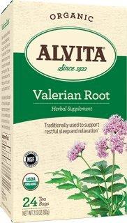Alvita Tea, Organic Valerian Peppermint, 24 Count