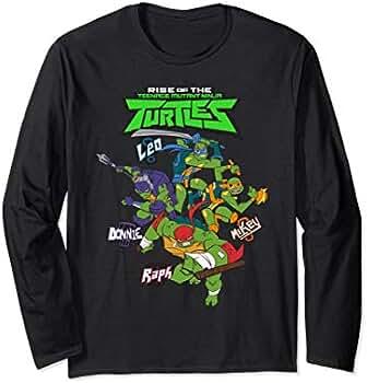 Amazon.com: Rise of TMNT Logo Blast Long Sleeve T-shirt ...