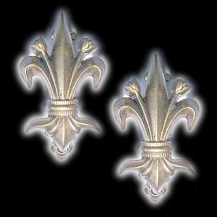 Pair Pair of Brass Fleur De Lis Hangers for ()