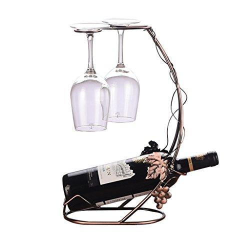 He Xiang Firm Home bar wine racks wrought iron vintage wine racks inverted wine racks home wine glass holders by He Xiang Firm