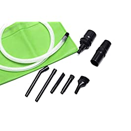 Green Label Micro Vacuum Attachment Kit – 7 Piece Compatible with Most Vacuum Cleaner Hoses with 1.25-1.38 Inch Diameter…