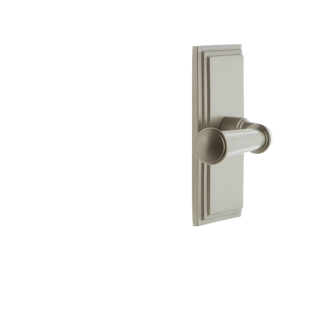 Grandeur 822725 Carre Plate Passage with Georgetown Lever in Vintage Brass 2.375