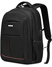 Modoker Anti-Theft Laptop Backpack for Men Women, College School Bookbag Business Travel Backpacks, Large Capacity Water Resistant Computer Bag with USB Charging Port Fits 15.6 inch Laptop(Black)