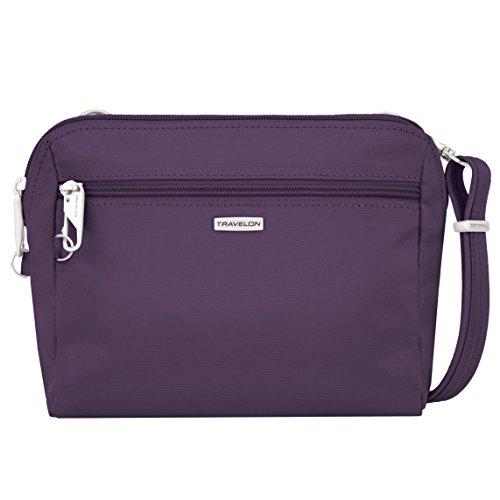 Travelon Womens Classic Convertible Crossbody & Waist Pack Cross Body Bag, Purple, One Size