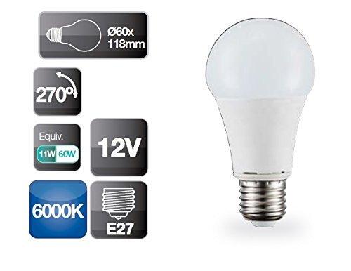 Bombilla de led 12V 11W E27 estándar 6000K 806 lm GSC 2002319: Amazon.es: Iluminación