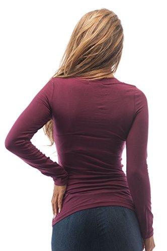 Hollywood Star Fashion Womens Long Sleeve V Neck Top XL Plus Size