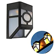 Solar Fence Lights Wall Mount LED Garden Light Lamp Outdoor Lightings For Deck Post Stairs Steps Gutter Patio Pond Pool (6)