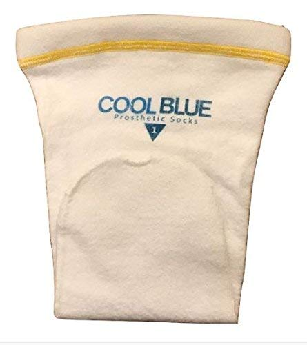 SPS Cool Blue Prosthetic Sock 1 Ply with Sewn Distal Hole (Wide/Regular) (CB1HWRG2) by SPS