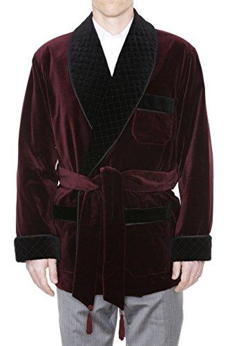 Men's Smoking Jacket William Burgundy Large by Duke & Digham