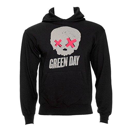 Green Day Men's Skull Hoodie