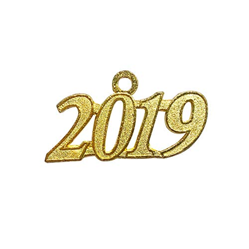 - Grekywin Gold Color Signet 2019 Year for Graduation Tassel, Charms Pendants DIY, Bracelet and Necklace, 9 Pcs (1 Piece Gold 2019)