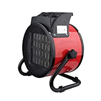 ZNDDB Fan Heater - 2000W/3000W High Power Industrial Heater, Heater, 220V, 3 Speed Adjustment, Stainless Steel Electric Heating Tube Heating
