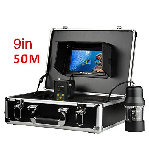 JINPENGRAN Underwater Fish Finder HD Underwater Camera 9 inch LCD Monitor IP68 Waterproof (50m)