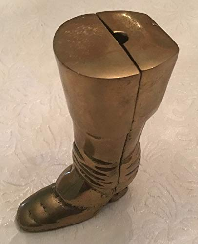 Vintage Brass Cowboy Boot Paperweight Desk Decor Great Gift