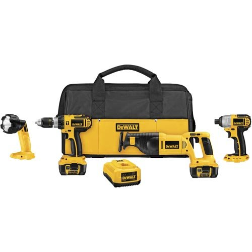 DEWALT-DCK465L-18-Volt-Cordless-4-Tool-Combo-Kit-with-XRP-Li-Ion-Battery-Packs