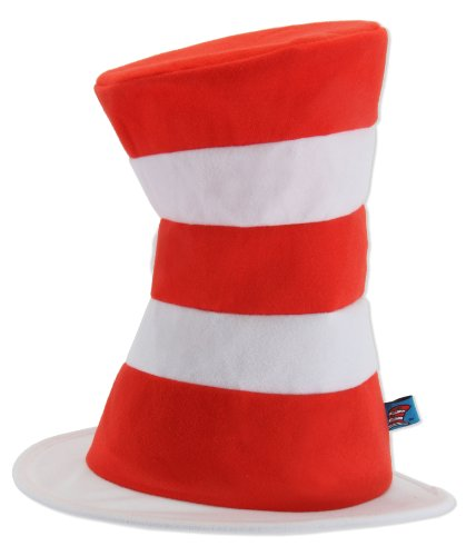 Cat White Halloween In Costume (Dr. Seuss Cat in the Hat Adult Tricot Hat by)