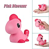 Squeeze Toys, Jinjin Cute Pink Dinosaur Cream Scented Slow Rising Stress Reliever Toys Gifts (As Shown)