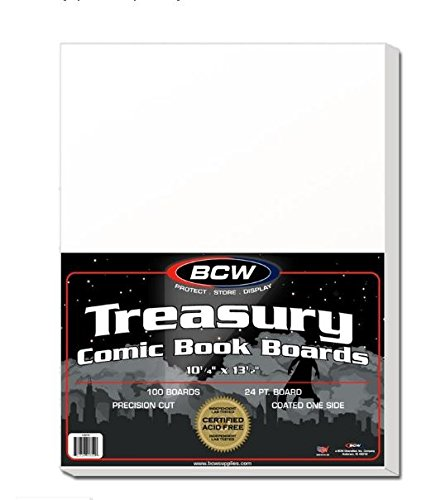 BCW Supplies - BBTB - Treasury Size Backing Boards - White - (100 Boards)