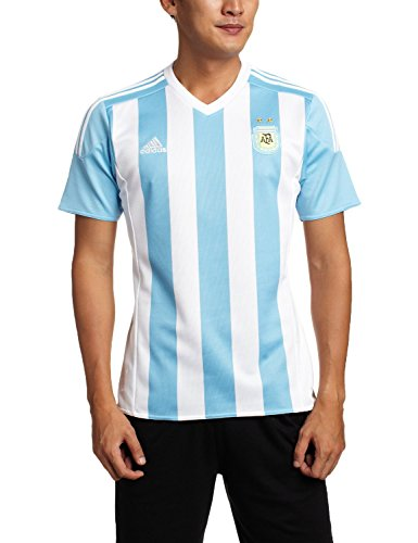 adidas Men's Argentina Home Soccer Jersey 15/16-White/Sky (M) ()