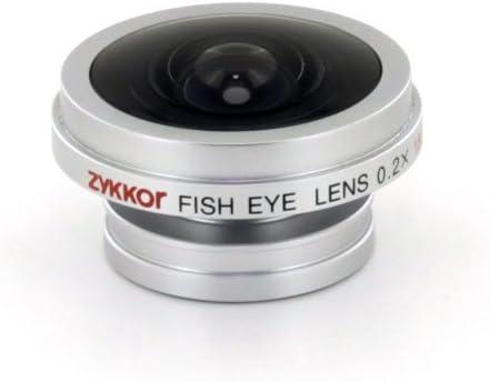 Silver Zykkor Magnetic Lens Ultra Hd Flip Ultra Flip Fish Eye 0.2X ...