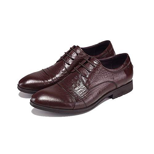 in Business Inglesi Stringate Moda Uomo Uomo Comfortable Scarpe Pelle Brown Scarpe da da fUwFdqfv