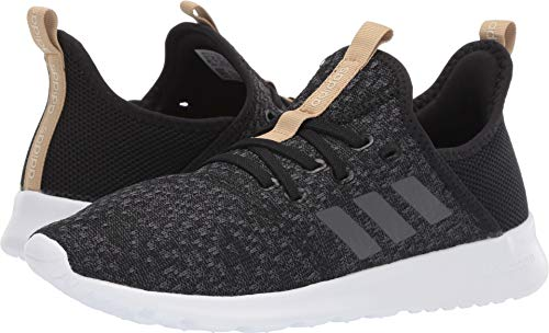 adidas Women's Cloudfoam Pure Shoes, Black/Grey/Black, 7 M US (Sneaker Fashion)