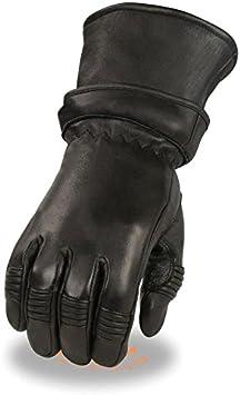 Mens Zip Off Cuff Motorcycle Gauntlet Glove w// Cinch Wrist Short or Long Glove