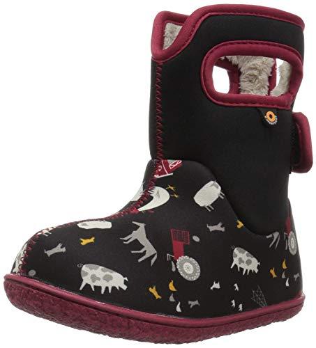 Bogs Baby Snow Boot, Farm Black/Multi, 5 M US -