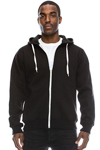 Hipster Sleeve Fleece Zip Up Hoodie