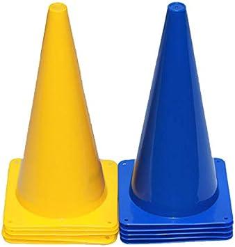 10 Stück Pferdesport - 38 cm Höhe Pylonen 5x gelb, 5x blau