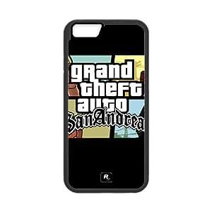 Gta Grand Theft Auto San Andreas Caracteres Gráficos 15,843 iPhone 6S 4.7 pulgadas del teléfono celular funda Negro caja del teléfono celular Funda Cubierta EEECBCAAJ75083