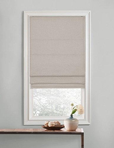 Collection Romana (Regal Home Collections Premium Room Darkening Cordless Roman Shades - Assorted Sizes, Styles & Colors (Textured Neutral, 35 in.))