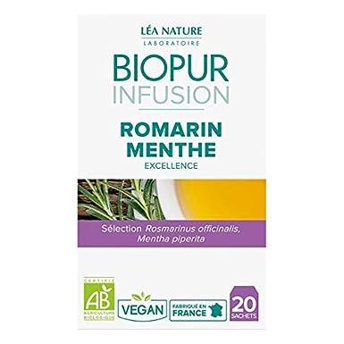Biopur - La Infusión De Menta Romero 20 Bolsas - Lote De 4 ...