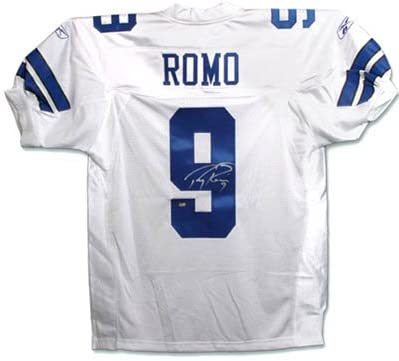 Tony Romo Cowboys Signed Authentic Jersey-Official at Amazon's ...