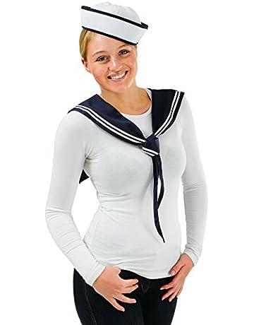 8c70c8e936 Desconocido Bristol Novelty - Gorro y pañuelo para disfraz de marinera.