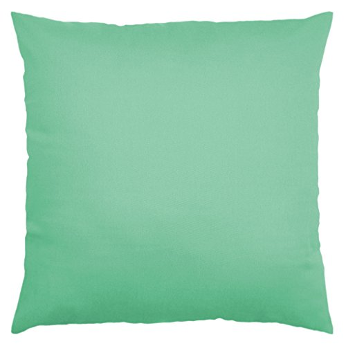 Designer Cushion Cover (JinStyles 8-OZ Cotton Canvas Square Accent Decorative Throw Cushion Sham (Solid Light Green, Square, 1 Pillow Cover for 24 x 24 Inches)