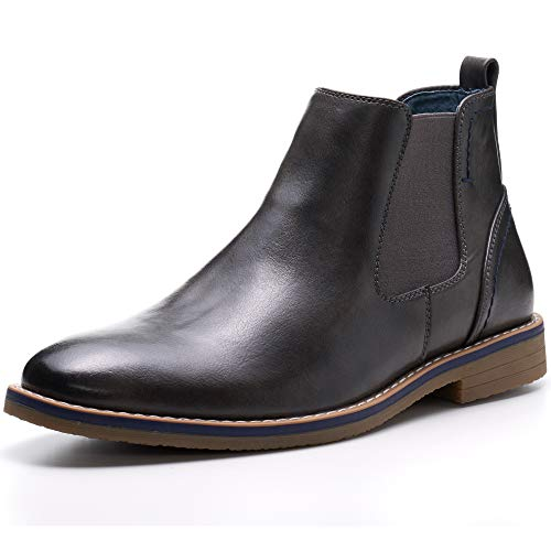 alpine swiss Mens Owen Chelsea Boots Pull Up Ankle Boots Gray 9 M -