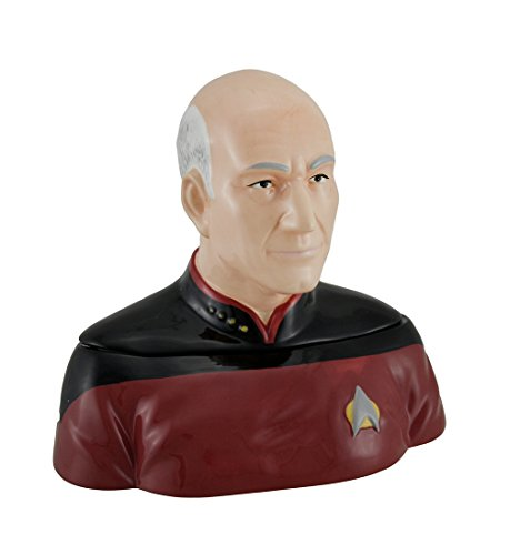 Westland Giftware Ceramic Cookie Jar, Captain Picard, Multicolor
