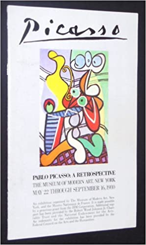 Pablo Picasso A Retrospective Gallery Booklet Pamphlet