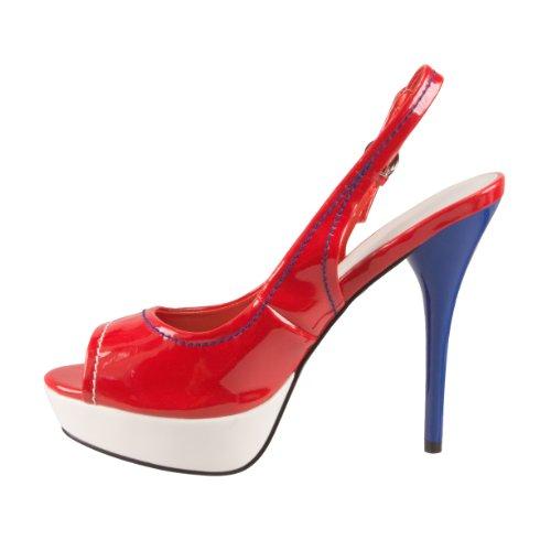 Spot On - Zapatos de vestir de sintético para mujer rojo - rojo